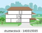 large cutaway house ready to... | Shutterstock .eps vector #140315035
