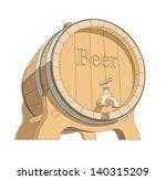 wooden tun with beer vector...   Shutterstock .eps vector #140315209