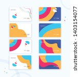 various business card or credit ...   Shutterstock .eps vector #1403154077