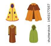 vector design of cloak and... | Shutterstock .eps vector #1403177057