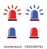 siren alarm icons  red and blue ... | Shutterstock .eps vector #1403184761
