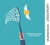 chasing money concept.... | Shutterstock .eps vector #1403194397