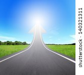 highway road going up as an... | Shutterstock . vector #140321311
