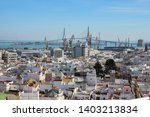 top view of cadiz city ...   Shutterstock . vector #1403213834