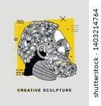 greek boxer sculpture. vector...   Shutterstock .eps vector #1403214764