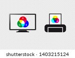rgb monitor display and cmyk... | Shutterstock .eps vector #1403215124