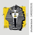 sphynx sculpture. vector...   Shutterstock .eps vector #1403223131