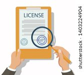 lawyer checking legal document... | Shutterstock .eps vector #1403224904