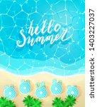 hello summer concept. letters... | Shutterstock .eps vector #1403227037