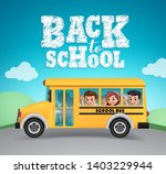 back to school vector design.... | Shutterstock .eps vector #1403229944