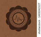 electrocardiogram icon inside... | Shutterstock .eps vector #1403242127