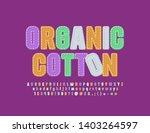 vector bright emblem organic... | Shutterstock .eps vector #1403264597
