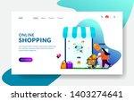 landing page template of online ...   Shutterstock .eps vector #1403274641