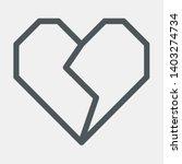 geometric heart cartoon origami ...   Shutterstock .eps vector #1403274734