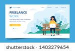 freelance work page template.... | Shutterstock .eps vector #1403279654