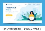 freelance work page template.... | Shutterstock .eps vector #1403279657