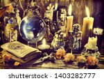 magic crystal ball  witch... | Shutterstock . vector #1403282777
