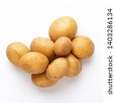 potatoes isolated on white... | Shutterstock . vector #1403286134