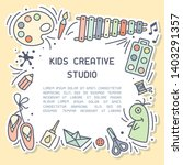 bright concept of kids creative ... | Shutterstock .eps vector #1403291357