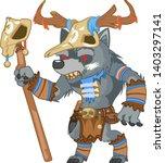 outline druid wolf werewolf... | Shutterstock .eps vector #1403297141