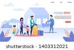 house rent service flat landing ... | Shutterstock .eps vector #1403312021