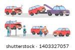car service set. mechanics... | Shutterstock . vector #1403327057