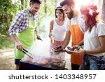 friends making barbecue and... | Shutterstock . vector #1403348957
