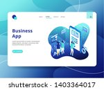 landing page business app  the...