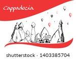 cappadocia hand drawn turkish... | Shutterstock .eps vector #1403385704