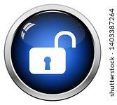 unlock icon. glossy button...