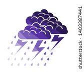 thunderstorm icon. flat color... | Shutterstock .eps vector #1403387441