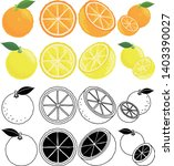the cute icons of orange and... | Shutterstock .eps vector #1403390027