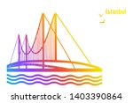 hand drawn istanbul symbol... | Shutterstock .eps vector #1403390864