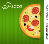 pizza menu template vector... | Shutterstock .eps vector #140339347