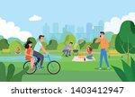 vector summertime flat... | Shutterstock .eps vector #1403412947