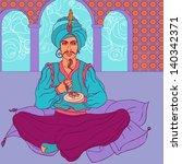 fairy tale sultan  arab men in... | Shutterstock .eps vector #140342371