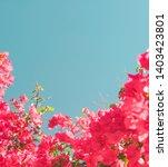 floral background  spring...   Shutterstock . vector #1403423801