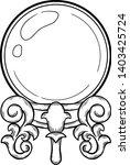 magic crystal ball line art for ... | Shutterstock .eps vector #1403425724