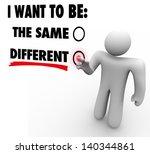 a man presses a button beside... | Shutterstock . vector #140344861
