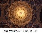 cupola in imam mosque in kerman ...   Shutterstock . vector #140345341