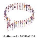 group of people making speech... | Shutterstock .eps vector #1403464154