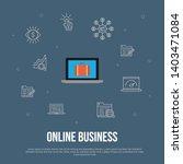 online business trendy ui flat...