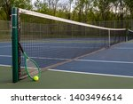 view of tennis court with...   Shutterstock . vector #1403496614