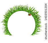 vector grass with white label... | Shutterstock .eps vector #1403501204