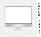 realistic computer monitor... | Shutterstock .eps vector #1403502437