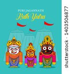 lord jagannath puri odisha god... | Shutterstock .eps vector #1403506877