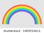 realistic rainbow isolated on... | Shutterstock .eps vector #1403514611