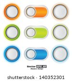 vector color button set.