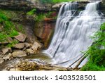 Brandywine Falls in Cuyahoga Valley National Park, Ohio in summer