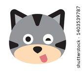 cat face character. a cute... | Shutterstock .eps vector #1403539787